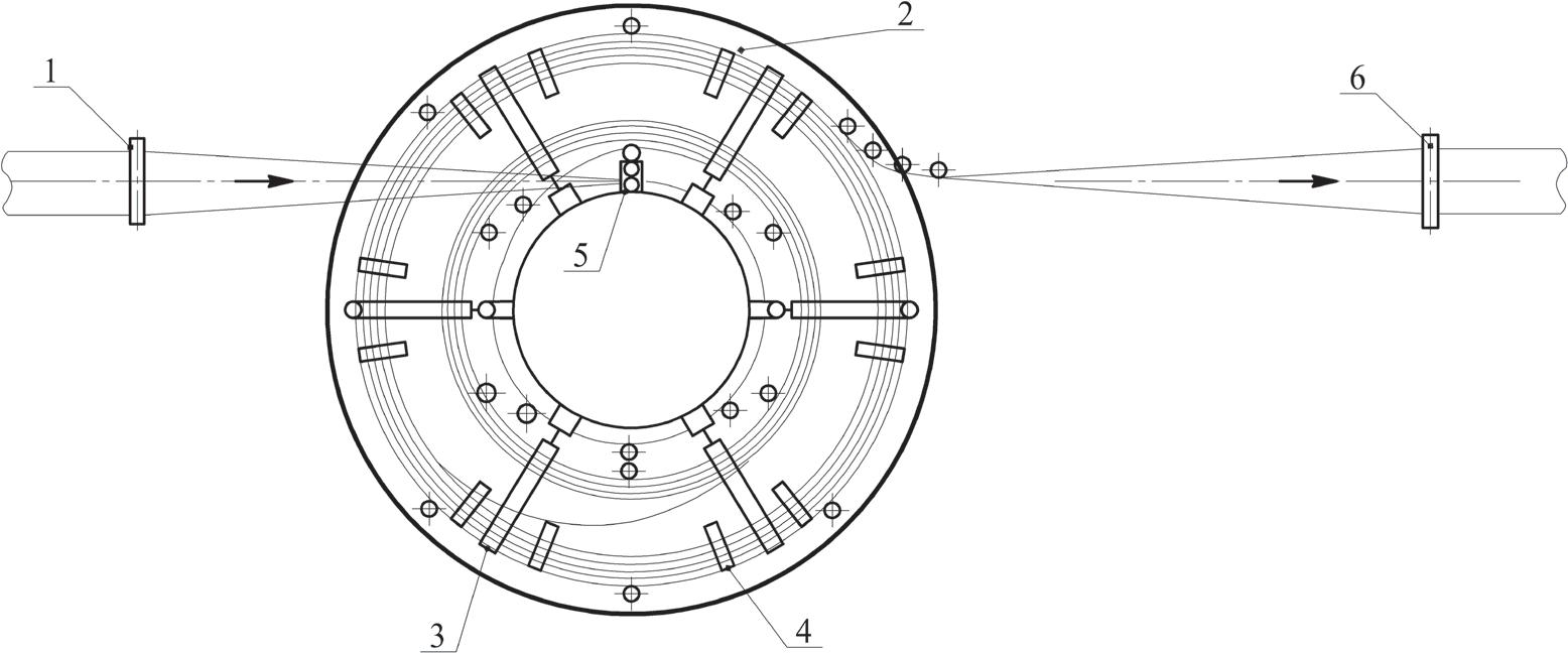 Схема спирального накопителя полосы