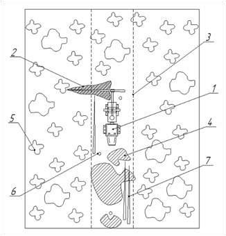 Схема укрепления проезжей части уса с использованием ВТПМ