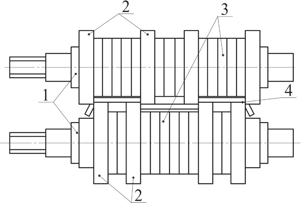 Схема установки дисковых ножей на АПР