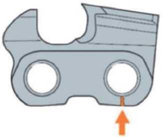 Трещины под головками задних заклепок режущих зубьев и соединительных звеньев