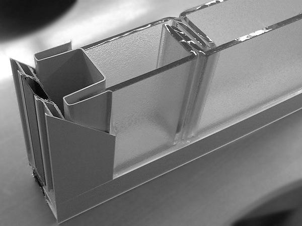 Внешний вид системы из стеклопрофилита