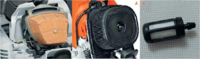 Воздушный и топливный фильтры