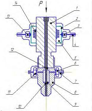 Гидроабразивная головка с охлаждением