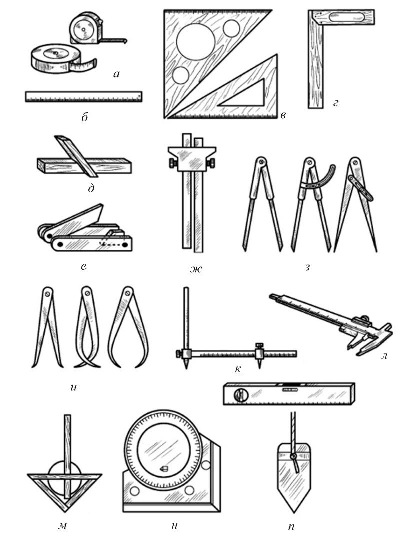 Инструмент для разметки древесины