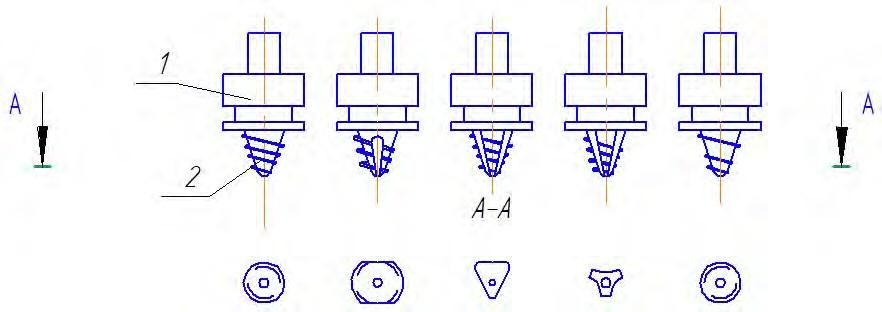 инструмент с раздельным исполнением корпуса и наконечника