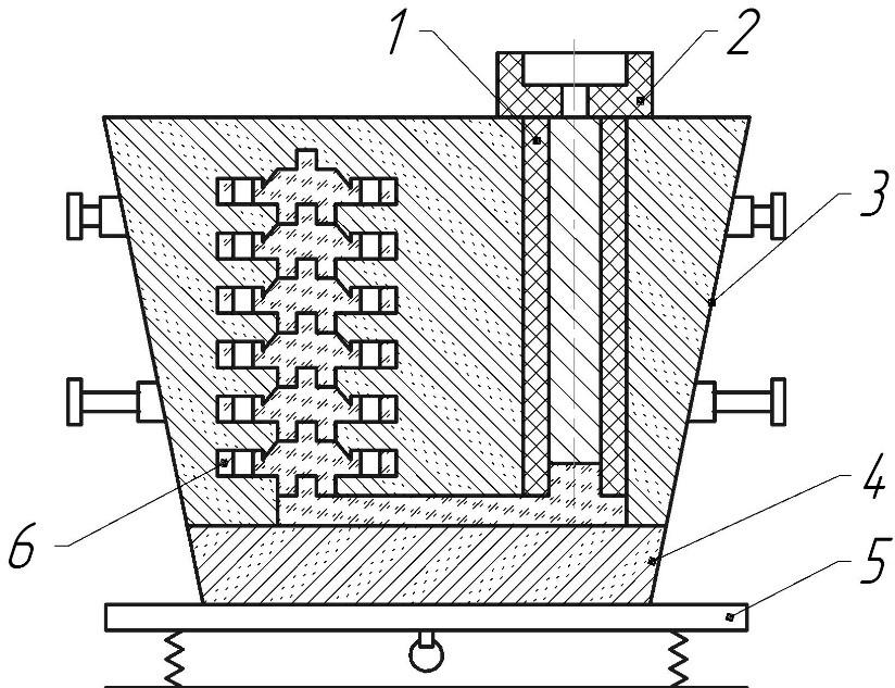 Изготовление формы с пенополистироловой моделью без связующего