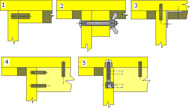 крепление крышек в столах с боковыми опорами