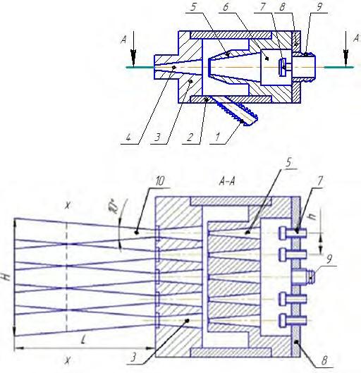 Многосопловый струйный аппарат