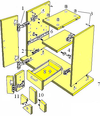 Монтажный чертеж тумбы