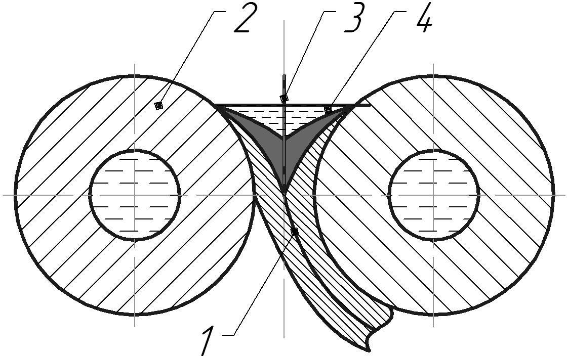 Схема непрерывного литья-прокатки-армирования биметаллических лент