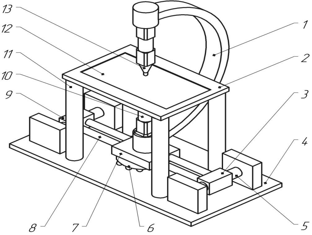 Схема установки для двухстороннего формообразования