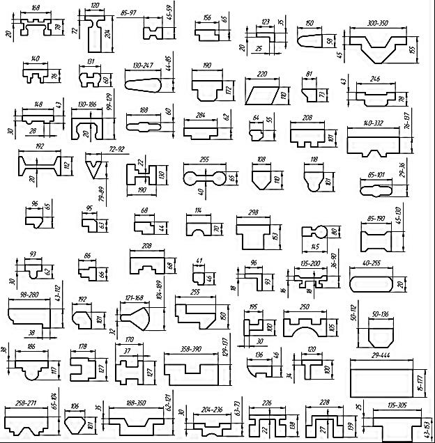 Типоразмеры заготовок, получаемых методами непрерывного литья