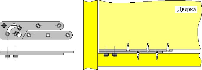 Установка дверки на пятниковую петлю с остановом