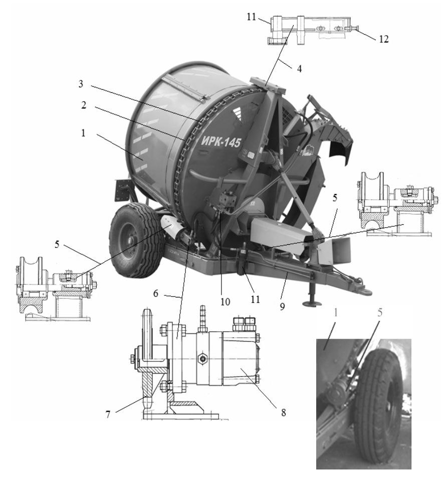Барабан измельчителя грубых кормов в рулонах ИРК-145