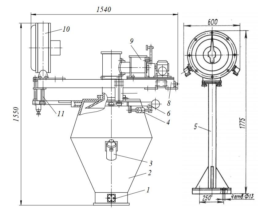 Дозатор сыпучих компонентов Ш2-ХДА