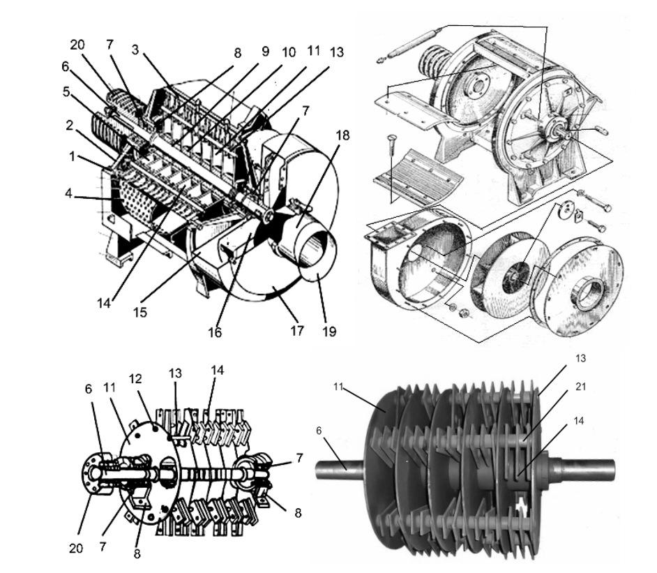 Дробильный аппарат КДУ-2А с вентилятором