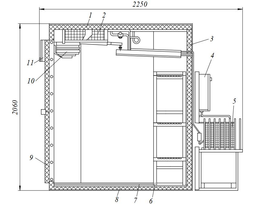 Холодильная камера КХН-2-6М