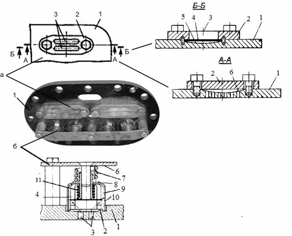 Клапанная доска поршневого компрессора