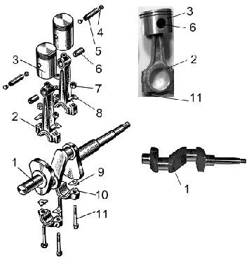 Кривошипно-шатунный механизм компрессора