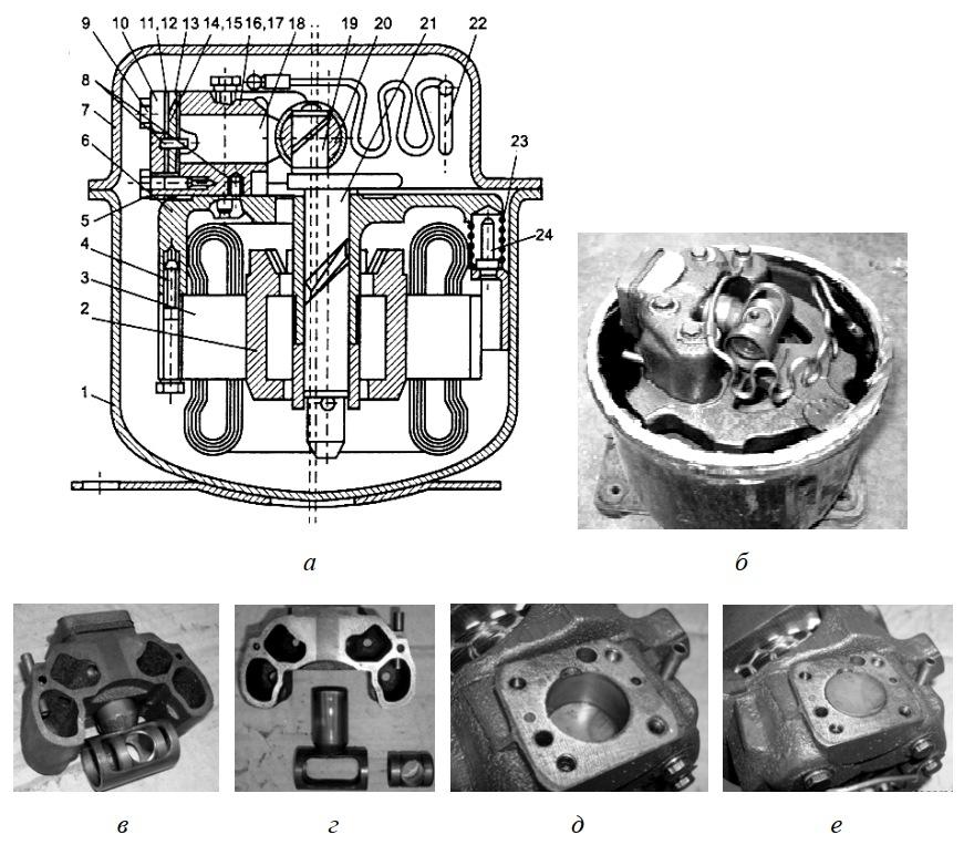 Кулисный мотор-компрессор