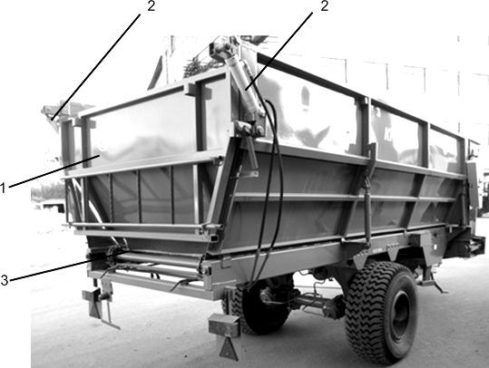 Кузов с шарнирно подвешенным задним бортом