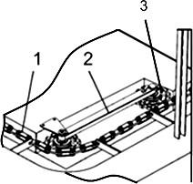 Натяжение скребкового транспортера ТСН-3,0Б