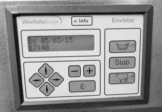 панель управления автомата промывки