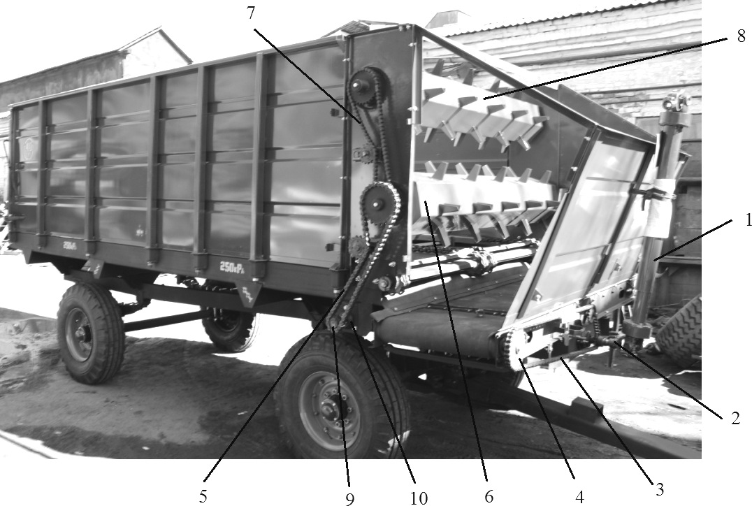 Привод рабочих органов кормораздатчика КТУ-10А