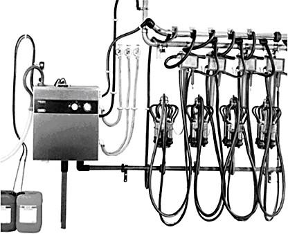 промывка молокопровода доильной установки
