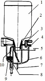 Схема фитильной масленки