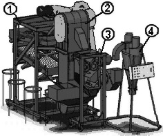 схема комплекса технологического оборудования УКР-2