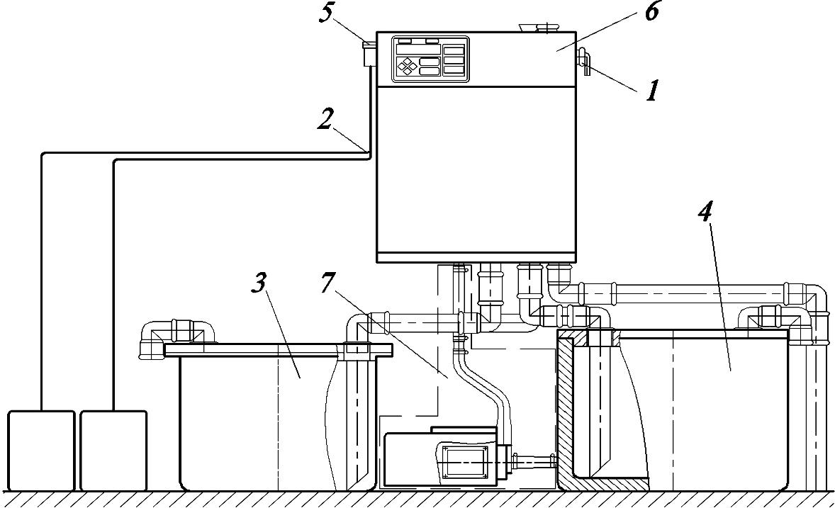 схема промывки молокопровода доильной установки