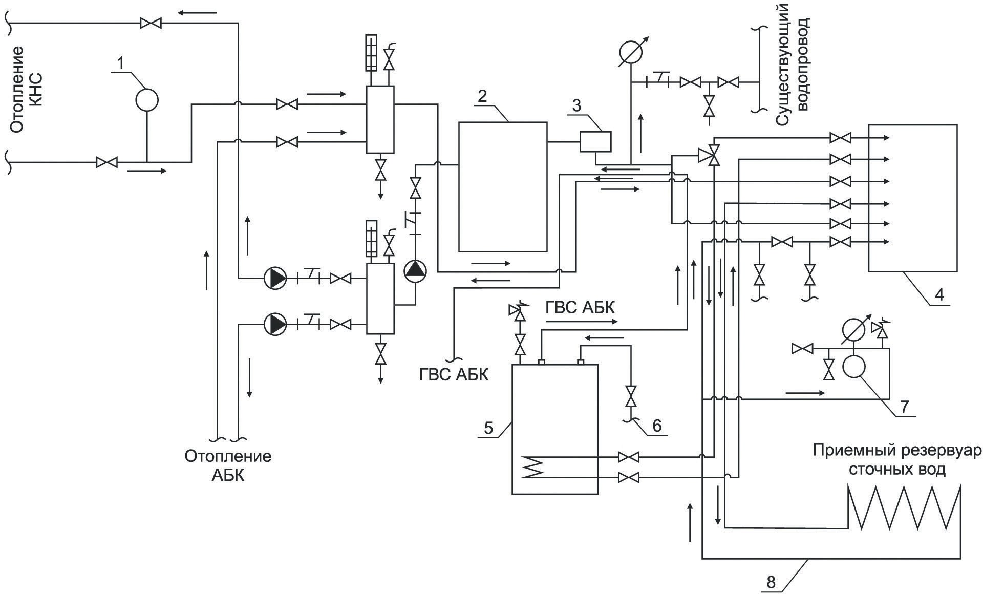 схема теплового узла КНс-3