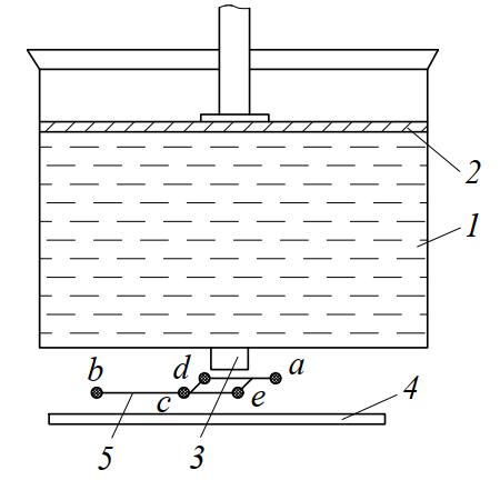 Схема устройства для отсадки заготовок тестообразных масс