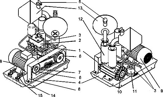 Схема вакуумного агрегата серии RPS 1200