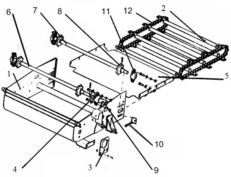 схема выгрузного транспортера