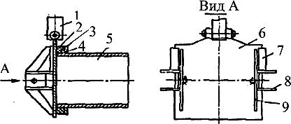 Схема выгрузной горловины смесителя СКО-Ф-6-1
