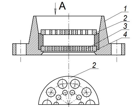 Устройство для выпрессовывания изделий из упругопластичных и вязких масс