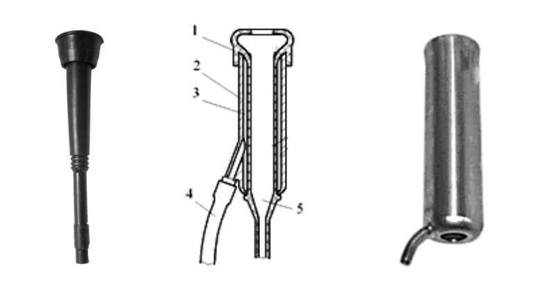 Устройство двухкамерного доильного стакана