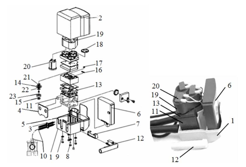 Устройство пульсатора с электромагнитным приводом