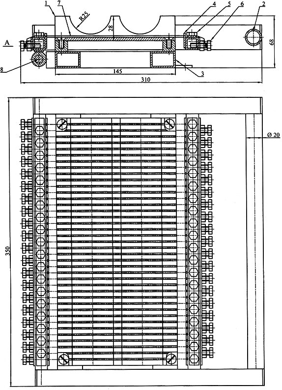 Устройство резки батонов мармелада ручное