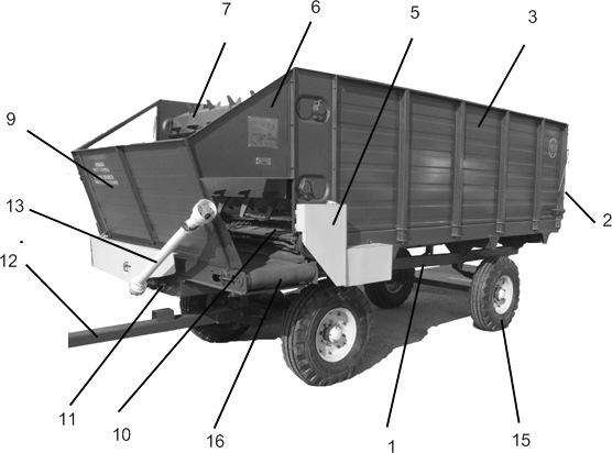 вид раздатчика кормов КТУ-10А