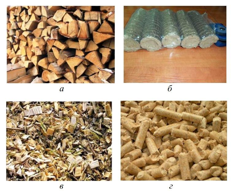 дрова, топливные брикеты, щепа и пеллеты