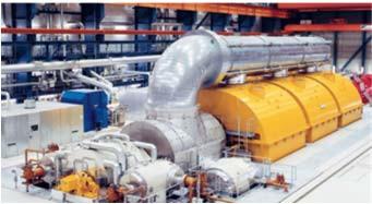 газовая турбина для утилизации водорода