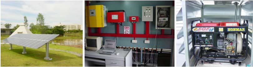 Гибридная система на основе фотоэлектрических батарей и дизель-генератора