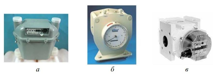 камерные (мембранные) и ротационные счетчики газа