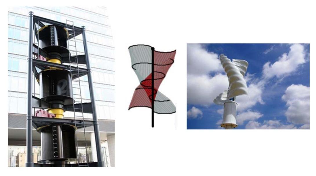 Конструктивные варианты ВЭУ на основе ротора Савониуса