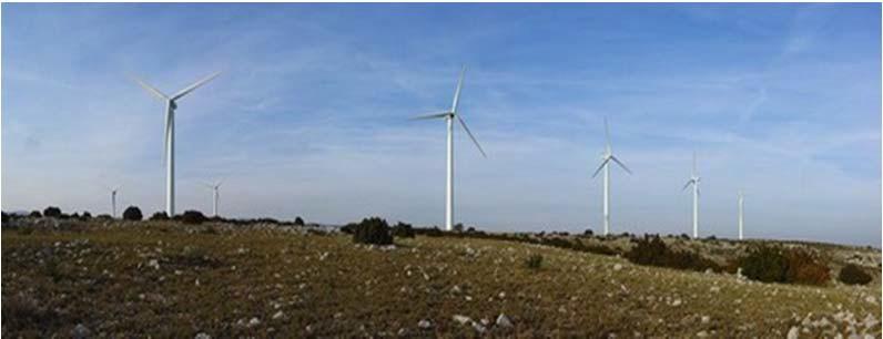 Размещение ВЭУ ветропарка по главному направлению ветра