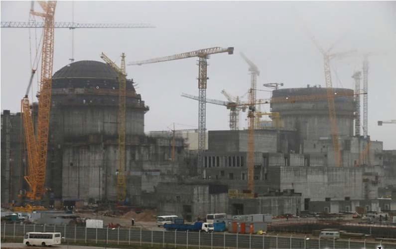 строительная площадка Белорусской АЭС