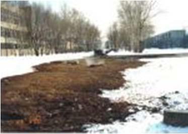 теплотрассы в зимнее время (источники теплопотерь)